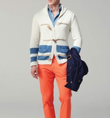 初春中老年男士单色套装时尚穿着搭配